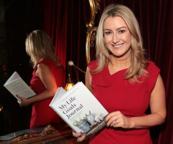 Andrea Hayes at her My Life Goals Journal Book Launch