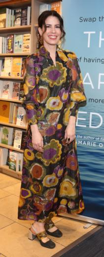 Author Annmarie O'Connor at the launch of her new book, The Happy Medium at Dubray Grafton St.