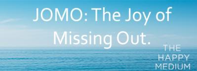 The Happy Medium Extract: Chapter 6 JOMO