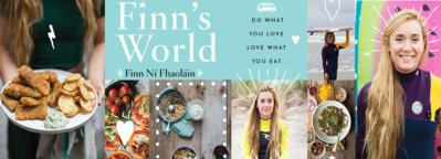 Sally McKenna launches Finn's World cookbook by surfing coeliac chef Finn Ní Fhaoláin