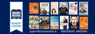 12 Gill Book authors nominated for The Bord Gáis Energy Irish Book Awards 2017