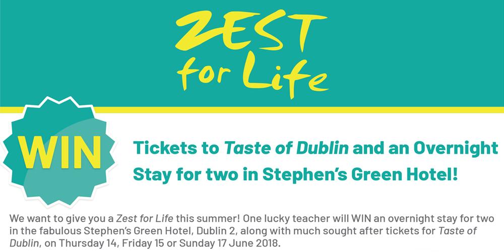 Zest for Life, Taste of Dublin Competition