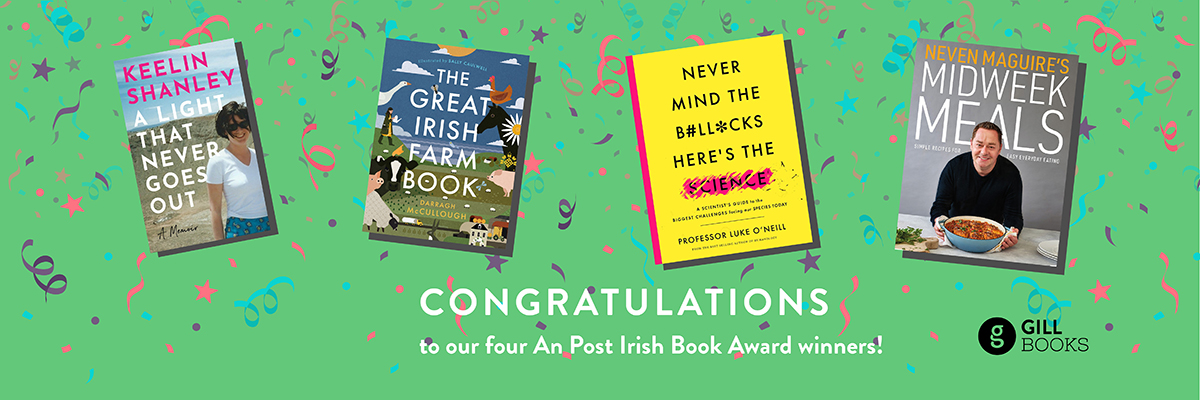 Gill Books wins a record four awards at the An Post Irish Book Awards 2020